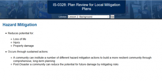 FEMA IS 328 ANSWERS Plan Review for Local Mitigation